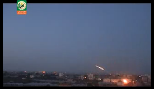 Terrorist groups boast by publishing their rocket fire emanating from civilian areas within Gaza. - Screenshot