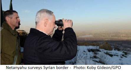 Netanyahu surveys Syrian border