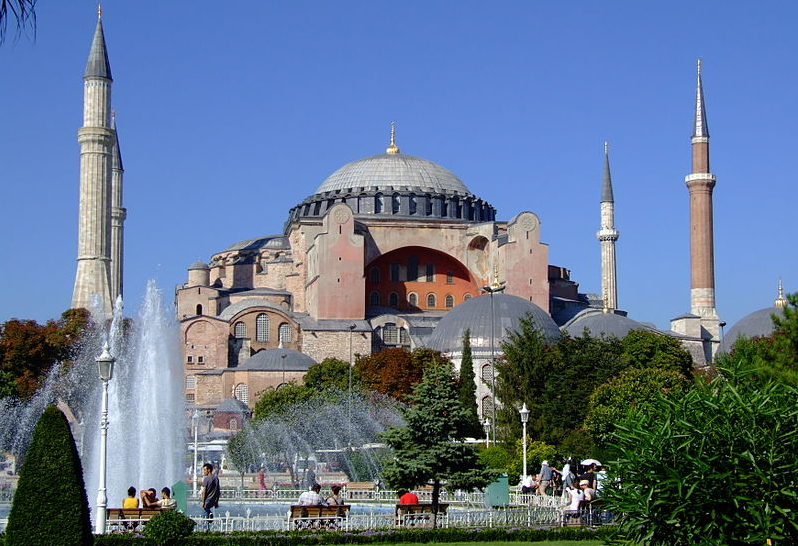 Originally a church, later a mosque, and now a museum, the Hagia Sophia was built in the 6th century. -  Photo  Wikimedia Commons
