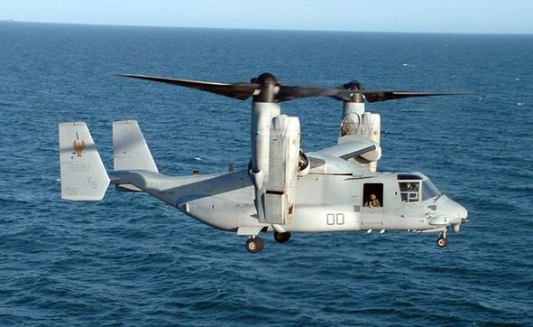 A Marine Corps MV-22 Osprey – Photo courtesy Wikimedia Commons
