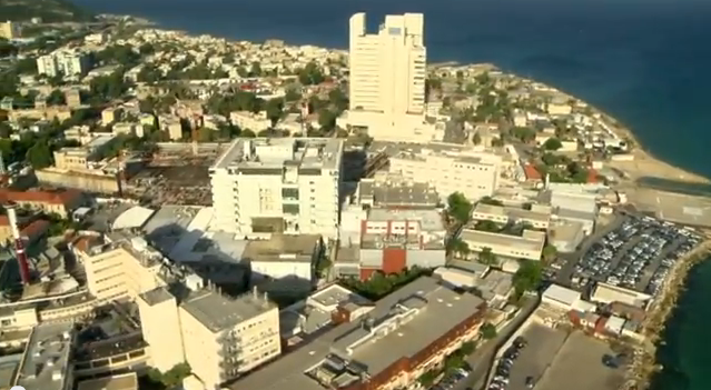 Aerial View of Rambam Health Care Campus  - Youtube Screenshot