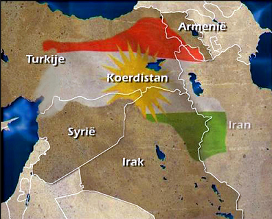 Kurdistan's futire border would be the area of their red, white & green national flag