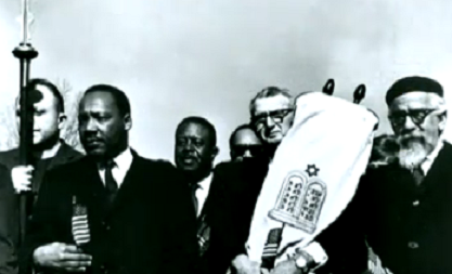 MLK and Rabbi Maurice Eisendrath march for Equal Rights