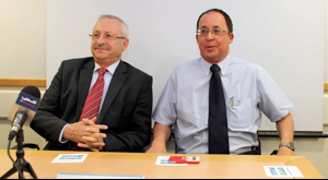 Minister Abdeen with Dr. Yuval Weiss - Photo Hadassah.org