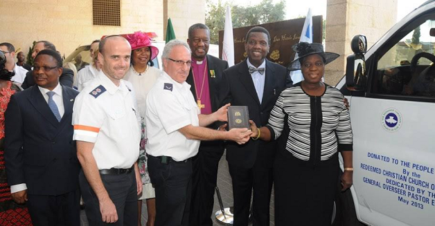 Nigerian Redeemed Christian Church of God (RCCG) donated ambulance to the Jerusalem MDA station - Photo Courtesy, Magen David Adom