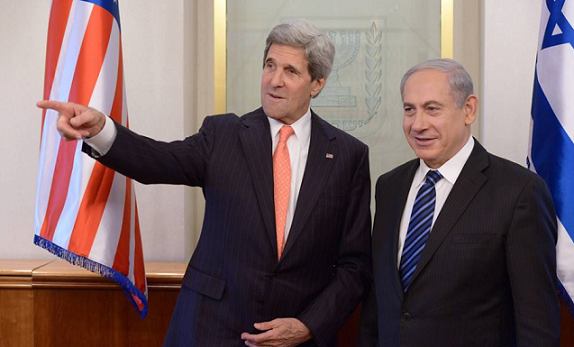 PM Benjamin Netanyahu met with US Secretary of State, John Kerry - Photo by Amos Ben-Gershom, GPO