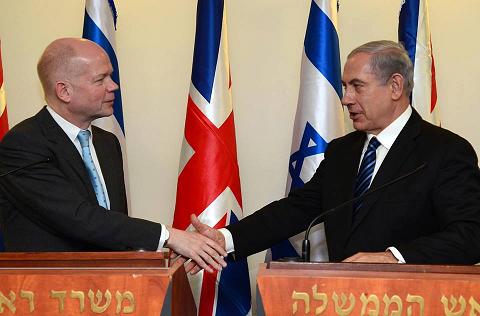 Prime Minister Benjamin Netanyahu meets with British Foreign Secretary, William Hague. - Photo Moshe Milner, GPO