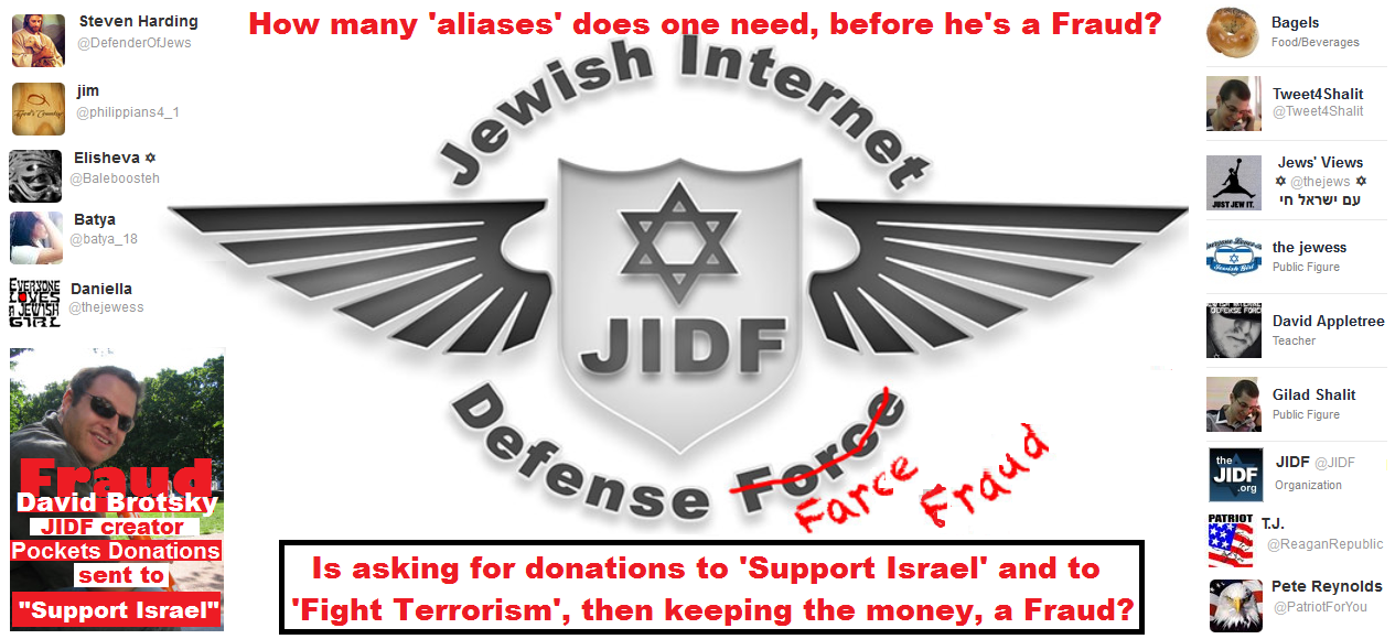 David Brotsky - JIDF - Jewish Internet Defense Force