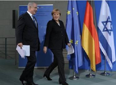 German Chancellor Merkel and PM Binyamin Netanyahu - Photo: GPO