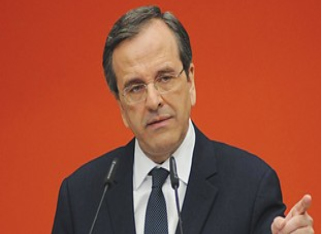 Greek Prime Minister Antonis Samaras - Photo Greek Press Office