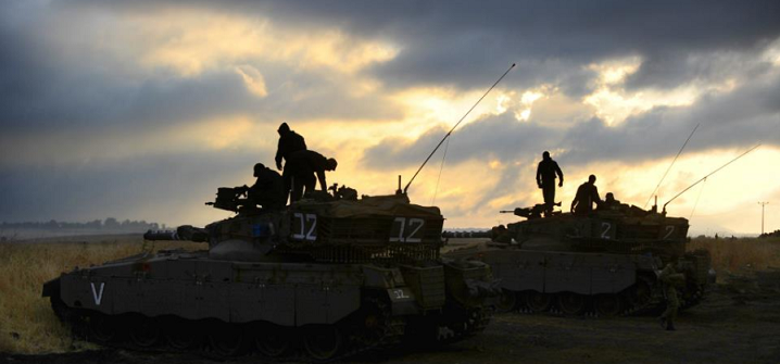 IDF tanks in the Golan Heights - Photo Courtesy IDF Spokesperson's Office