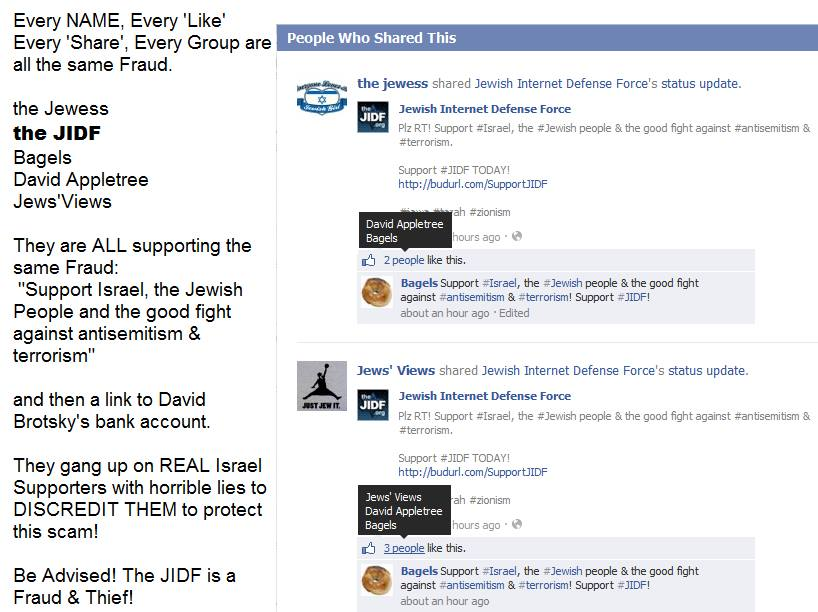JIDF SCAM ACCOUNTS