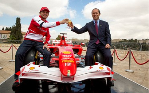 Mayor Nir Barkat preparing for Formula 1 race in Jerusalem - Photo Courtesy