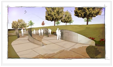 Rendering of Holocaust Memorial in Des moines, Iowa. (Jewish Federation of Greater Des Moines)