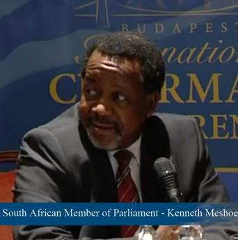 South Africa MP, Reverend Dr. Kenneth Meshoe - Screenshot