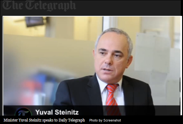 Minister Yuval Steinitz speaks to Daily Telegraph - Screenshot