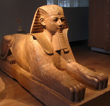 Sphinx, Metropolitan Museum of Art, NY - Photo courtesy to Wikimedia Commons