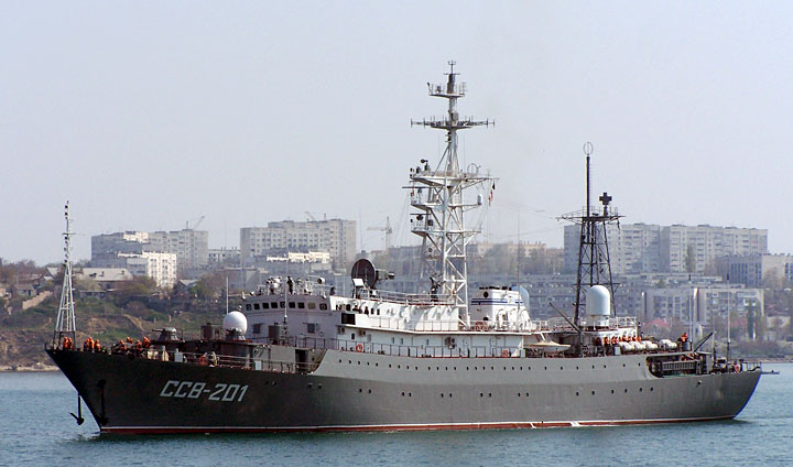 Russian Intelligence ship Priazovye - Photo courtesy