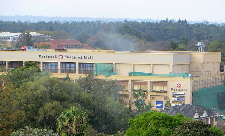Smoke over Westgate shopping mall on 23 September 2013 - Photo courtesy  Wikimedia Commons