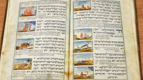 Handwritten 18th century Haggadah - BBC screenshot