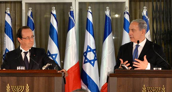Netanyahu and Hollande hold joint press conference - Photo: Koby Gideon, GPO