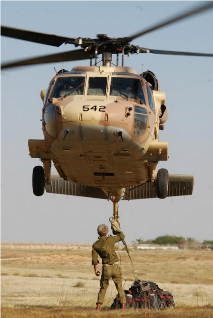 Sikorsky UH-60 Black Hawk Entered into service in 1994. A transport helicopter which features in rescue and evacuation missions, as well as tactical assault transport actions. Its Hebrew nickname is 'Yanshuf' ('Owl'). - IDF Spokesperson Unit