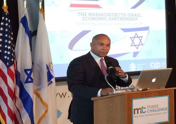Massachusetts Gov. Deval Patrick - Photo: New England - Israel Business Council