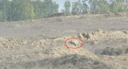 Explosive devices planted near Gaza security fence-  Photo: IDF Spokesperson