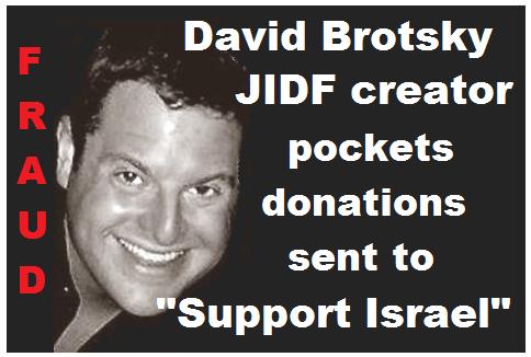 David Brotsky FRAUD Creator of the JIDF