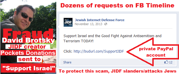 David Brotsky of the JIDF is a fraud