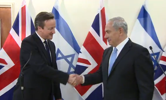 PM Netanyahu and British PM David Cameron -Photo PMO