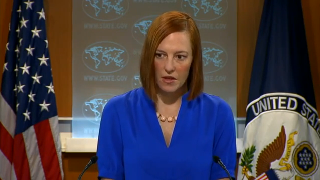 US State Department Spokeswoman Jen Psaki. - YouTube  Screenshot