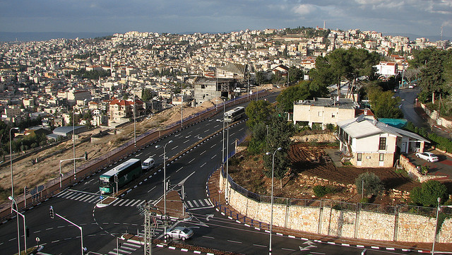 View of theThe Arab city of Nazareth in northern Israel - Photo courtesy Wikimedia Commons