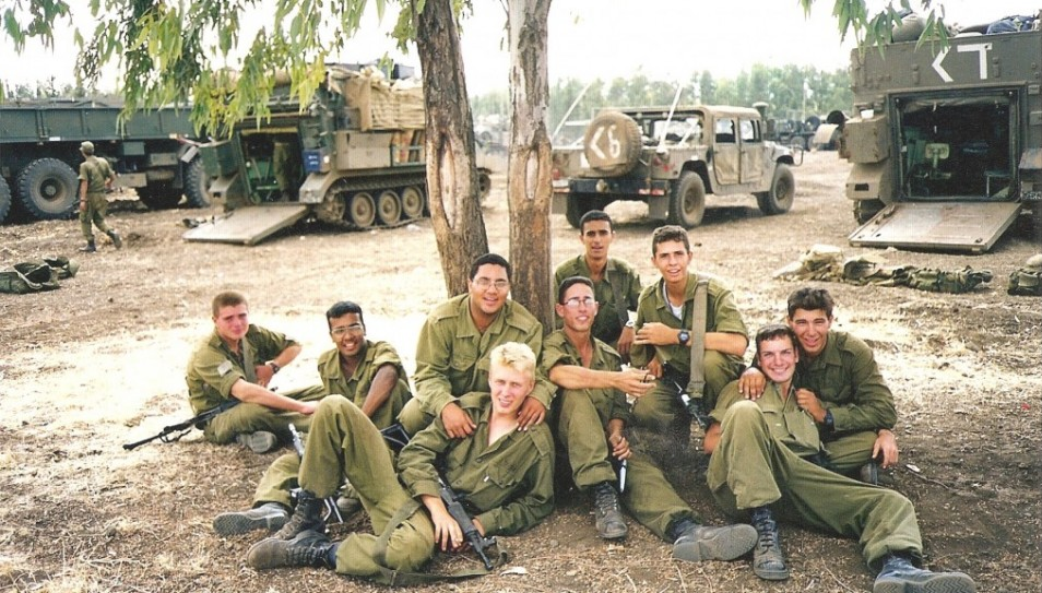 Guy Hever (5th from right, with glasses) and friends several weeks before his disappearance - Photo: Courtesy of Rina Hever