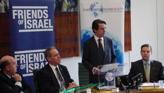 Former Spanish Prime Minister José María Aznar, Friends of Israel. - Photo: Screenshot / HJS.
