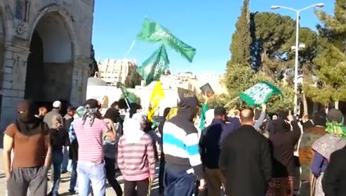 Hamas on Temple Mount - YouTube Screenshot