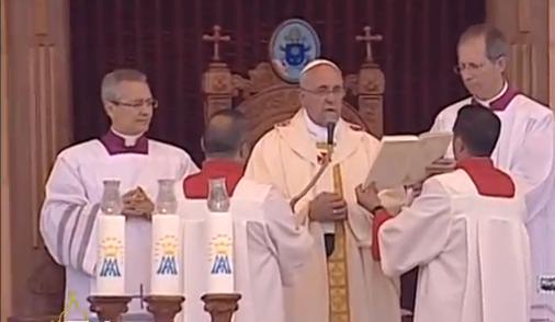 Pope in Jordan - CTV Screanshot