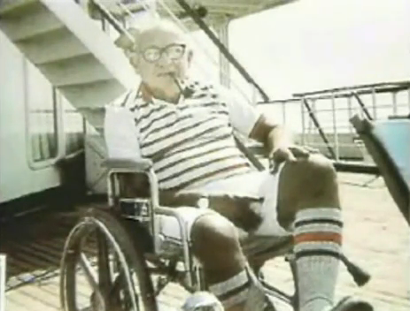 While 69 year old disabled World War II Veteran Leon Klinghoffer sat in his wheelchair aboard the Achilles Lauro cruise ship on October 7, 1985, four Palestinian terrorists shot him in the head and threw him overboard as his wife watched in horror. Leon and Marilyn Klinghoffer had been celebrating their wedding anniversary by taking this cruise.