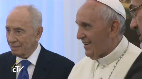 Peres and the Pope - CTV screenshot