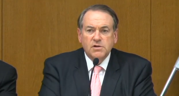 Mike Huckabee at Knesset