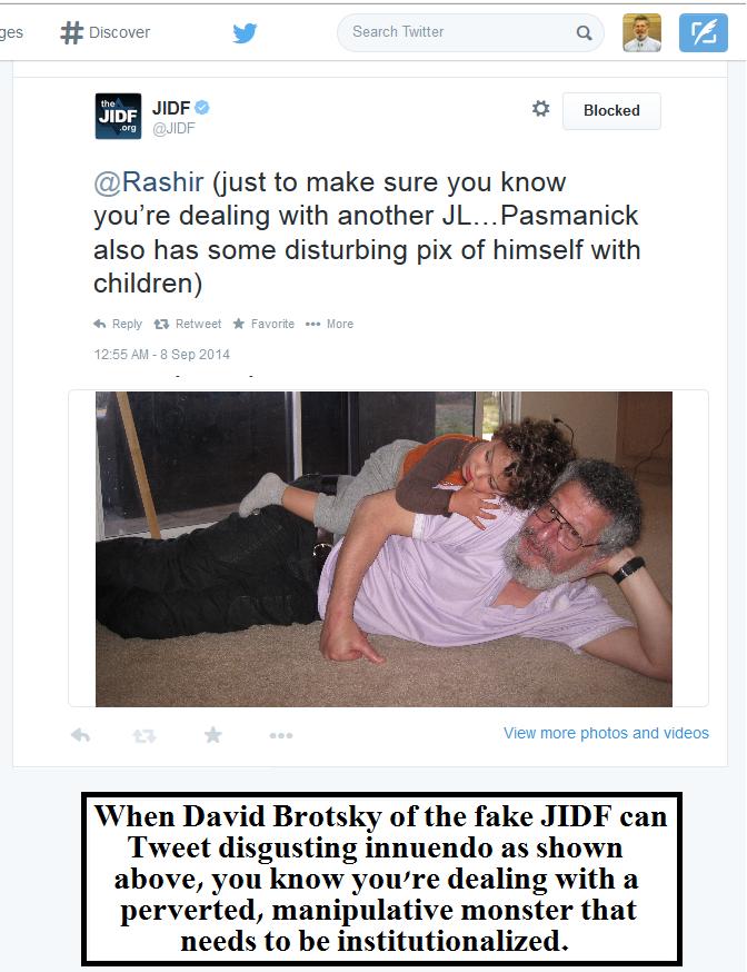 JIDF innuendo by David Brotsky