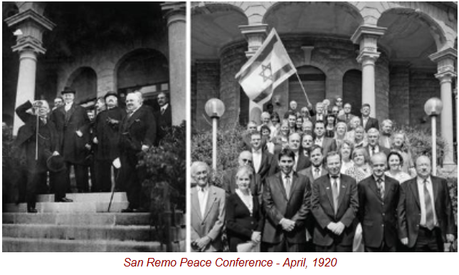 San Remo Peace Conference - April, 1920
