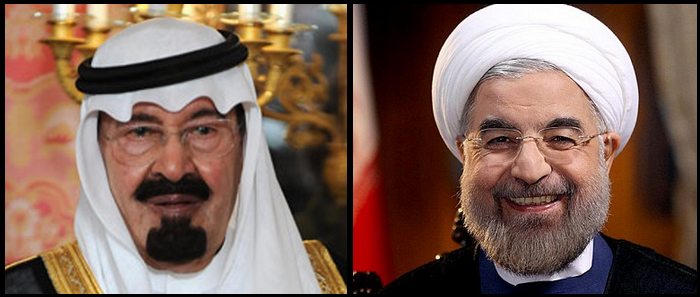 Saudi King Abdullah ibn Abdilazīz - Hassan Rouhani President of Iran
