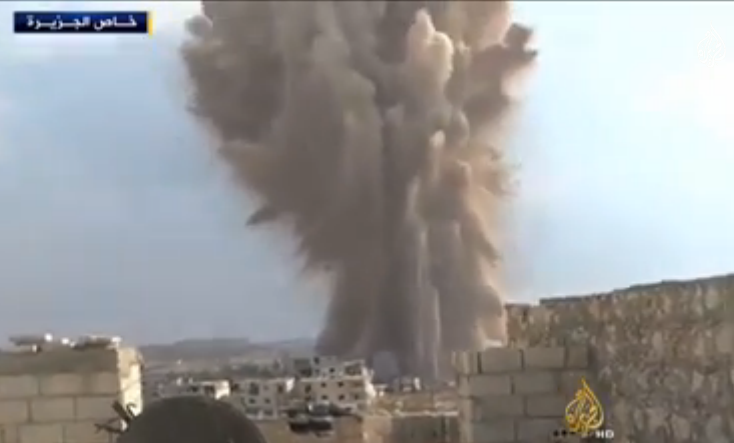 Syrian explosion - Screenshot YouTube/Al Jazeera
