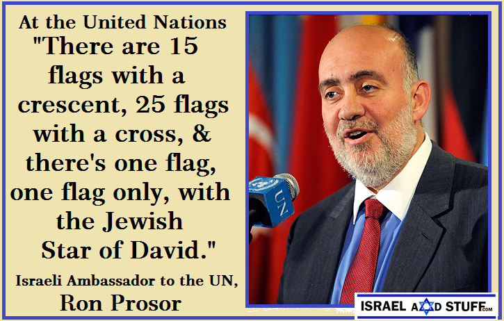 Ron Prosor -1 Jewish Flag – Photo: AP