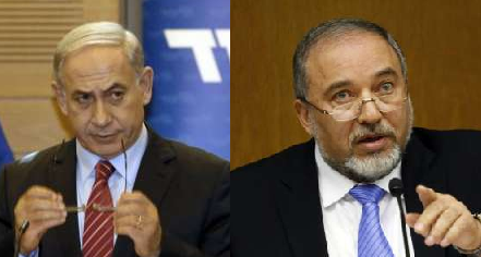 Israel's Prime Minister & Foreign Minister - Photo Gali Tibbon AFP