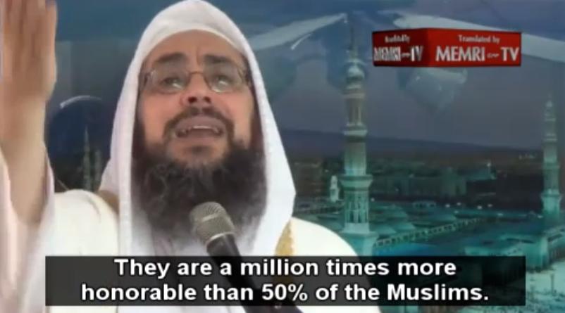 Screenshot from MEMRI (the Middle East Media Research Institute) video clip