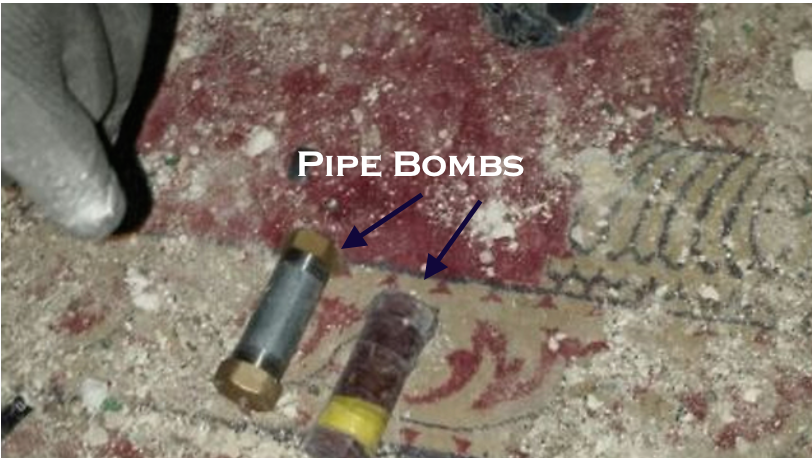 Pipe Bombs discovered inside Al-Aqsa mosque - Israel Police