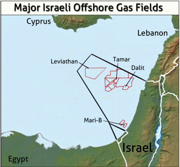 Israeli offshore gas fields