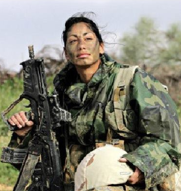 Elinor Joseph, was born 1991 into a Christian family from the Arab village of Jish, is the first Arab woman ever to serve in a combat role in the I.D.F.